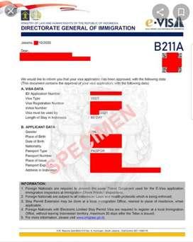 Jasa E Visa Onshore/ Offshore dan kitas
