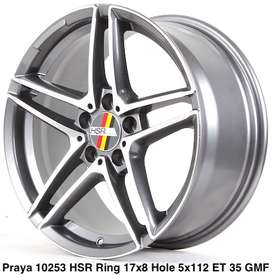 menjual velg PRAYA 10253 HSR R17X8 H5X112 ET35 GMF