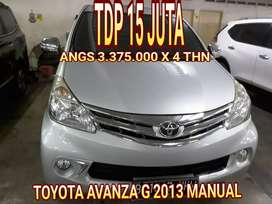 Toyota avanza G 2013 manual dobel airbag gress siap pakai tdp 15 jt