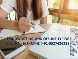 HANDWRITING JOB FROM HOME -PART TIME JOB
