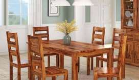 Dining Table set Fully Wooden Material