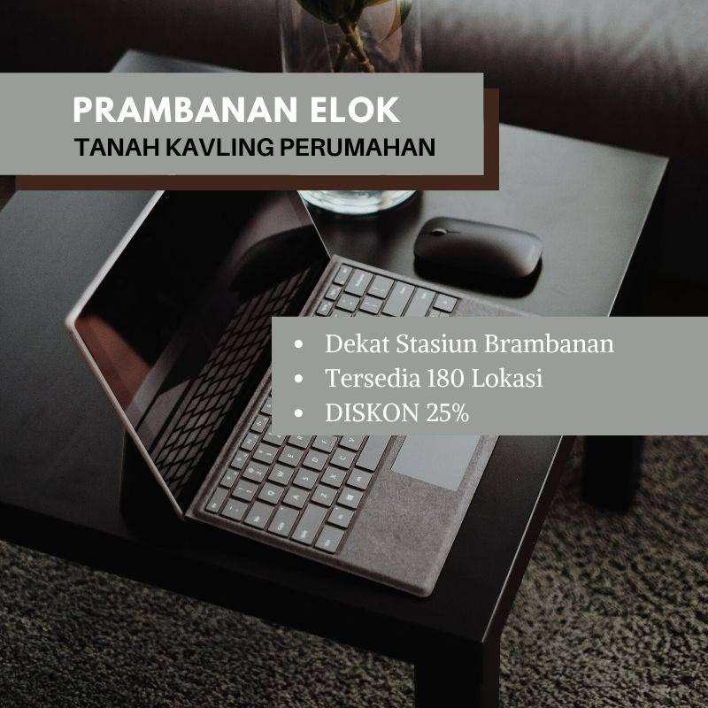 Kavling Prambanan 120an meter Diskon 25%