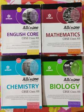All in one Chemistry, biology,English,Math class12