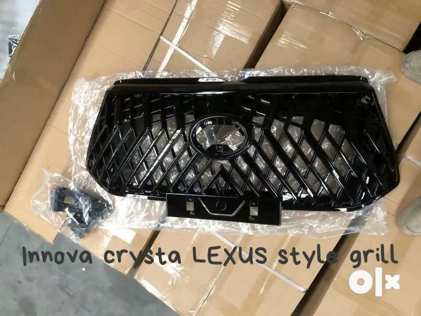 Innova Crysta grill Lexus style abs plastic made in Taiwan