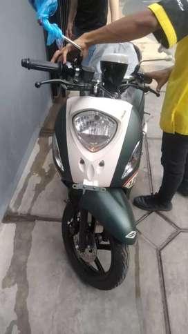 BARU Motor YAMAHA FINO SPORTY 125 green white JUAL RUGI