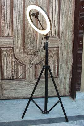 26cm Ring Light With Mobile Holder With 7feet Tripod Stand in 3 Colors