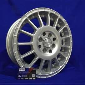 JUAL VELG ARROW JD803 HSR R15X65 H8X100-114,3 ET45 SILVER