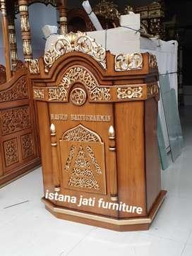 Mimbar masjid Ready stock mimbar podium bahan kayu jati tua