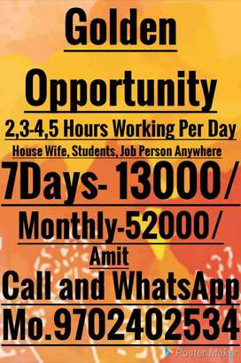 Golden Opportunity Extra Income support your family