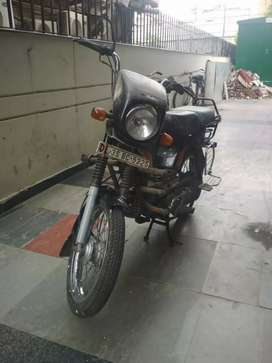 Well maintained and almost new motor bike