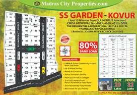 900 Sqft Approved Plots Near by Porur & Gerugambakkam & Iyyapanthangal