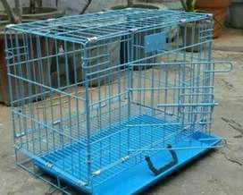 Cage for pet with tray and 2 doors and its foldable