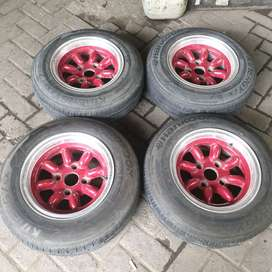 Velg+Ban R/Ring 13 Enkei Made In Japan Kijang Xenia Maestro kuku macan