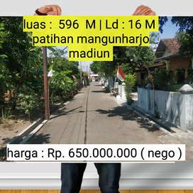 Tanah bagus untuk investasi /  kaplingan di patihan mangunharjo madiun