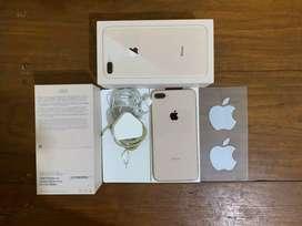 IPhone 8 plus 64gb Gold fullset original mulus