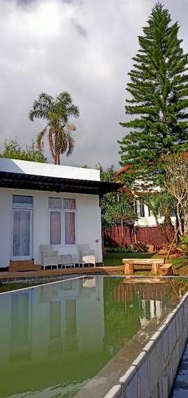 Sewa Villa Golden Tulip Pool, View dan Billyard di Batu Malang