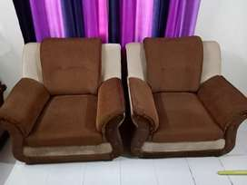 5 seater sofa set with centre glass table