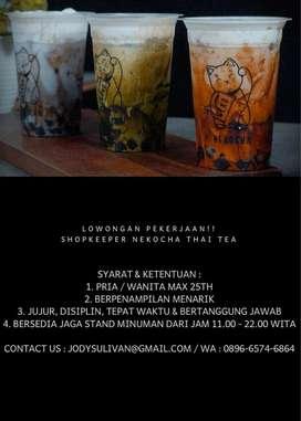 Lowongan pekerjaan untuk jaga stand thai tea