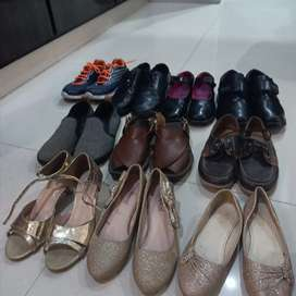 school shoes and other shoes.  price of each pair RS.800 few days used