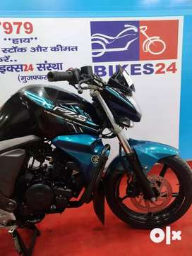 Blue and Black Color Yamaha FZS will valid insurance till june 2020