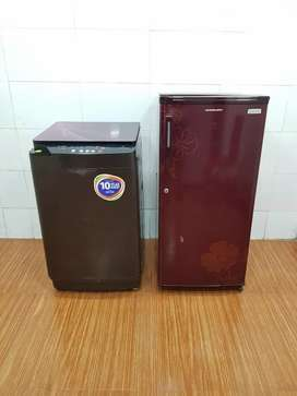 MARooN Videocon Washing machine & Kelvinator single door Fridge & ship