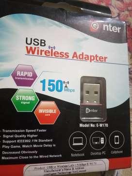 Enter wireless adapter(wifi)