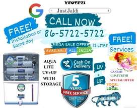 YFUTF7I WATER purifier  LED WATER tank ac,tv and  dth.  FREE PRE FIL
