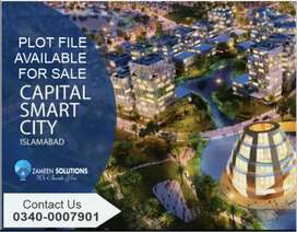 Plot are available for sale in capital smart city Islamabad