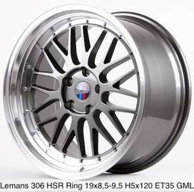 velg racing LEMANS HSR R19X85/95 H5X120 ET35 GREY/ML