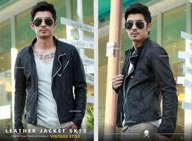 Black Hunter Leather Jacket | Jaket Kulit Hits | Crowsdenim SK-52