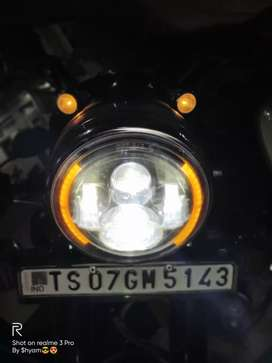 Royal Enfield headlight with DRL