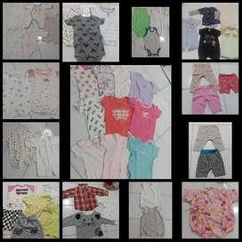 Aneka koleksi baju baby import size 3-6bulan