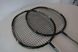 Jual raket badminton (2 pcs + cover)