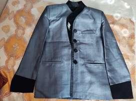 Velvet bordered coat and pant