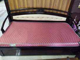 Single bed It is in brand new conditions with mattress  rupees 12000