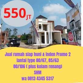 Jual rumah siap huni & inden hrg 550 JT,lokasi dkt UMM 3 Malang Kota