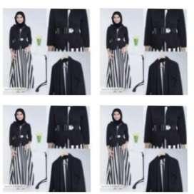 Shorena stripe Dress set muslim