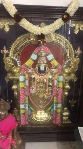 Original tanjavur painting with teakwood for sale in chennai