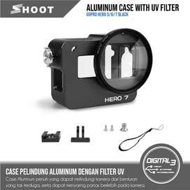 Aluminium Case GoPro Hero 5 6 7 Black New Hero 2018 CNC Housing UV52MM