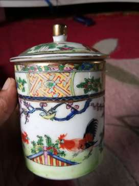 Cangkir ayam jago hand painted made in china