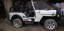 Silver colour paint jeep