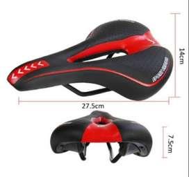 Sadel Sepeda Sport MTB Hitam Merah - 1021