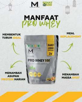 Suplemen Fitnes Muscle FIRST Pro Whey 2 lbs/900 gram rasa vanila madu