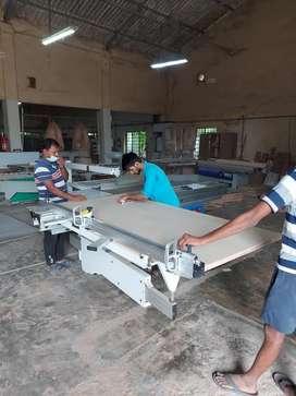 Wood work machine operator