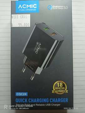 ACMIC Charger Adaptor Smartphone Support Quick Charge 3.0