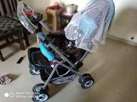LuvLap Stroller/ Pram for newborn baby, 0-3 yrs