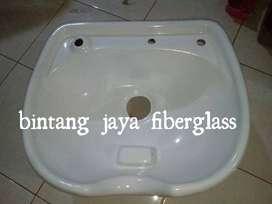 washbak putih fiberglass, produksi washbak putih