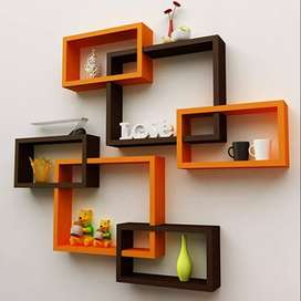 Wall  Floating Shelves (Set of 6) (Standard, Brown and orange)