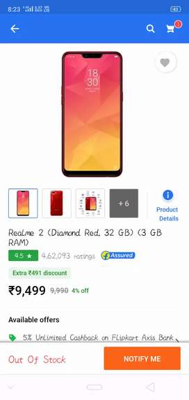 Only 6month old without Scretch fresh mobile realme 2