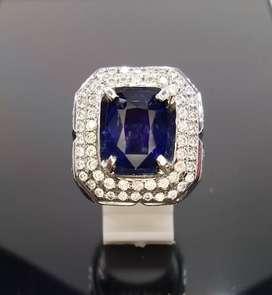 Natural Vivid Royal Blue Sapphire 6.65crt